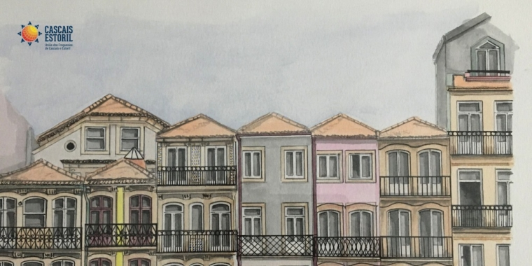 Um Olhar Arquitetónico | Pintura a Aguarela de Sílvia Correia Barbosa